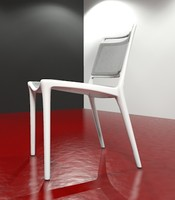 yang chair white 3ds