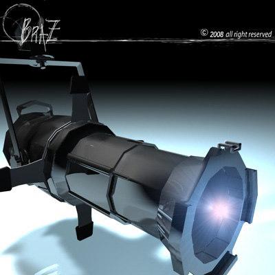 3d model stage light -