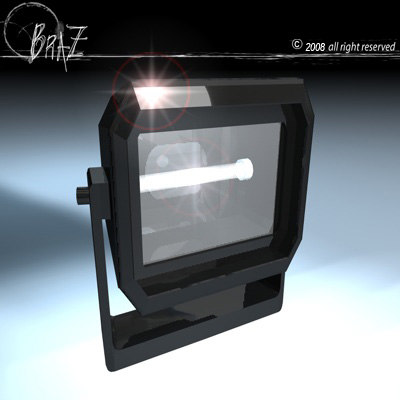 floodlights lighting 3d 3ds
