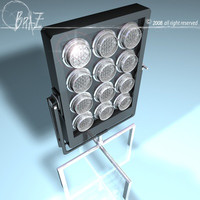 par 12x650 lighting 3d 3ds
