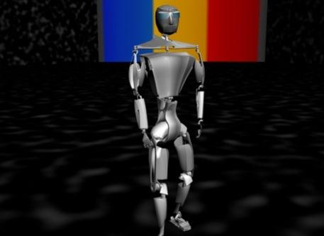 3d character robot model