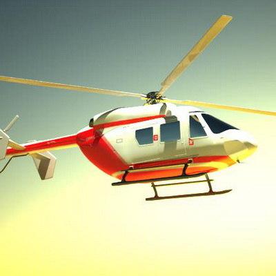 helicopter eurocopter bk 117 3d model