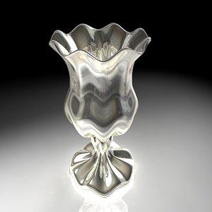 3dsmax vase gold silver