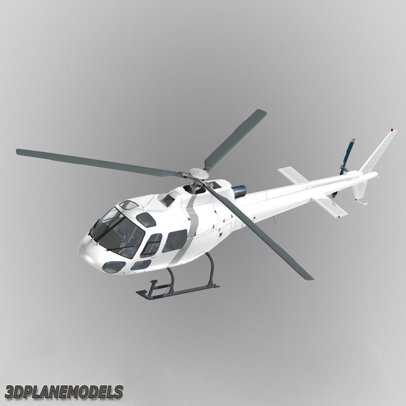 eurocopter generic white 350 3d dxf