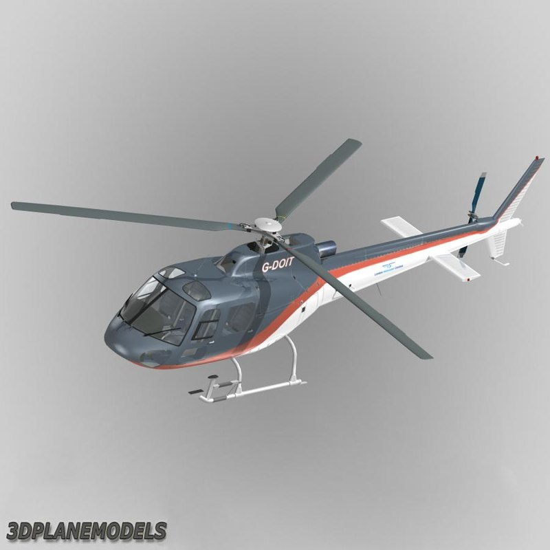 3d eurocopter london helicopter centres model