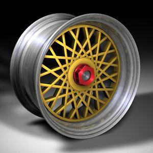 bbs alloy wheel 3d c4d