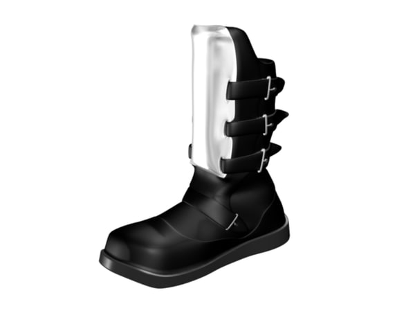 armored boot 3d max