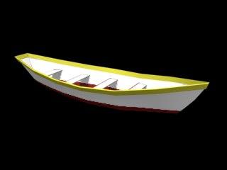 fishing dory 3d model