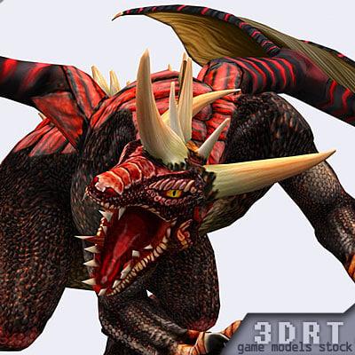 3d fantasy dragons animation