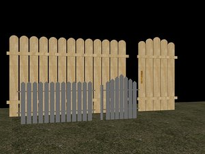 3ds max autocad fence