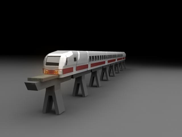 tms train 3d max