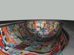 3dsmax pool skate park