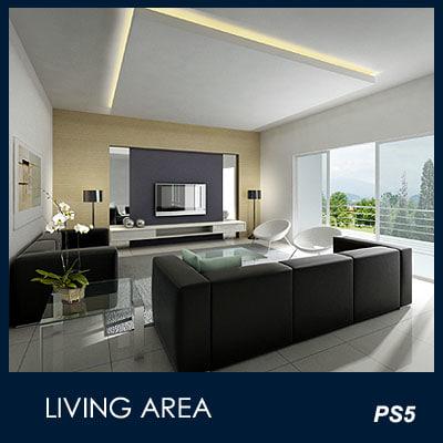 max modern living area