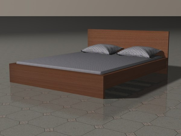 c4d malm double bed
