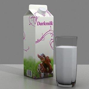 milk glass 3d model