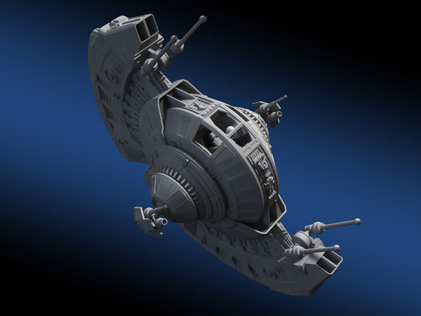 3d space fighter model