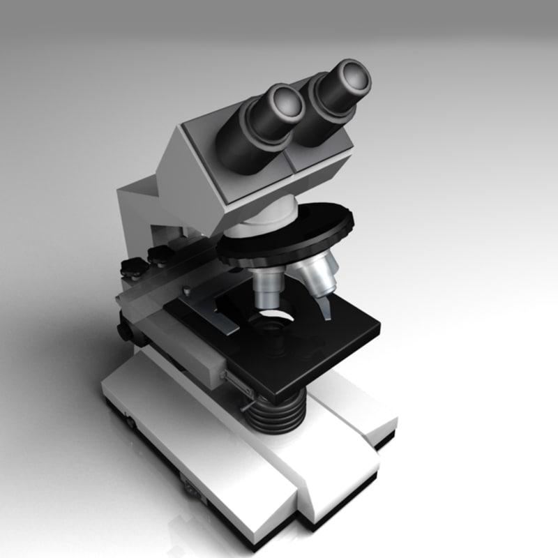 microscope 3d obj