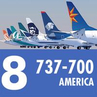 3d jet airliner american planes model