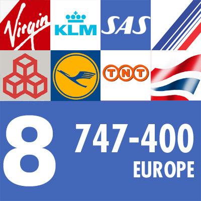 3d 747-400 airliner european air france model