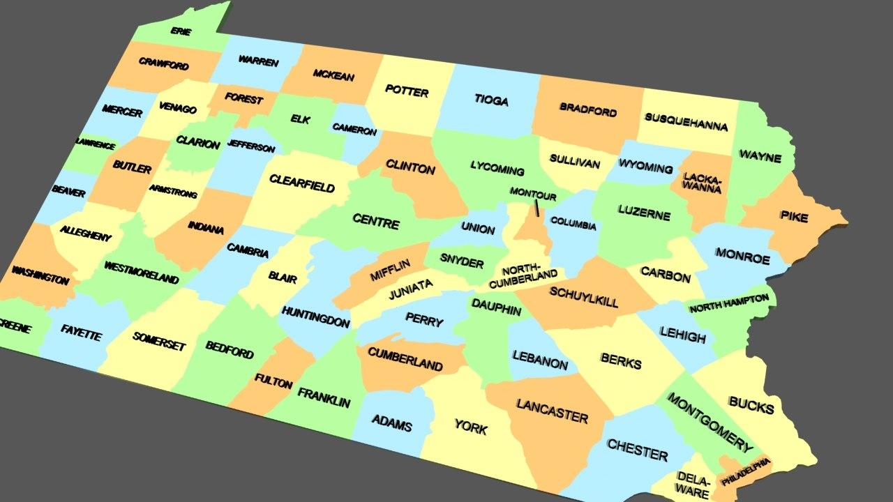 pa maps county 3d lwo