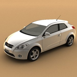 3d model kia pro ceed 2008