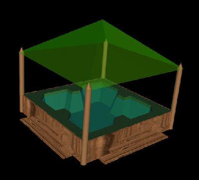 3d hot tub model