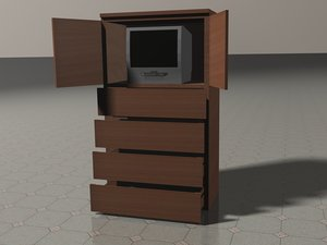 cinema4d malm tv cabinet