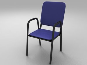 3d teacher school chair polys model