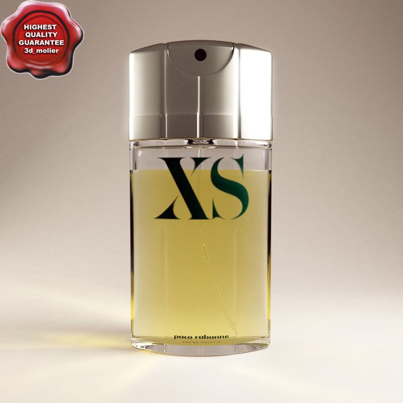 3d model bottle perfume xs