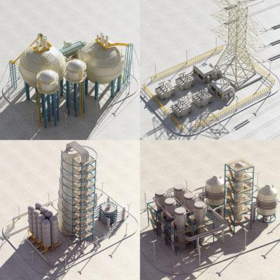 industrial module 3d model