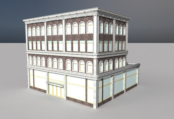 old department store 3d c4d