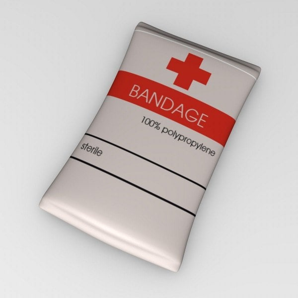 3d model bandage