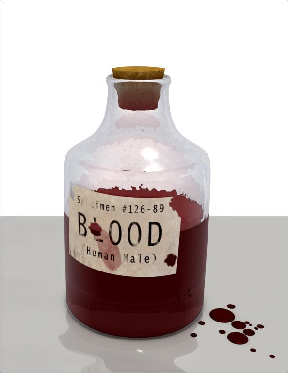 3d model of bottle blood