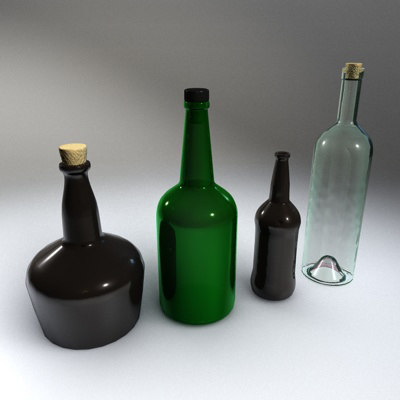 glass bottle 3d 3ds