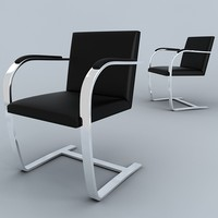 3ds ludwig mies brno chair