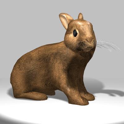 3d model bunny animation