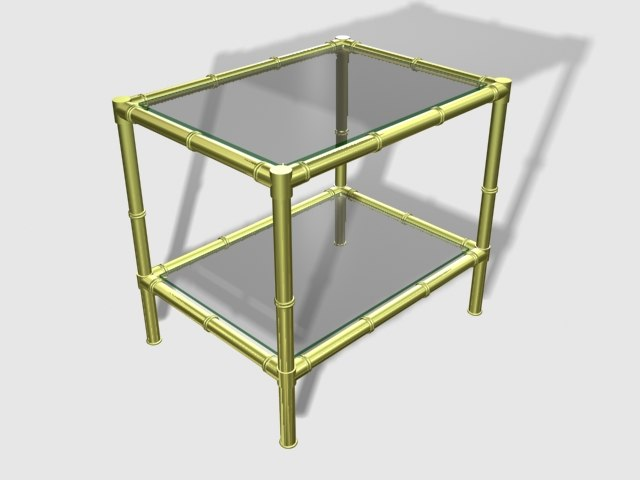3ds bronze table glass