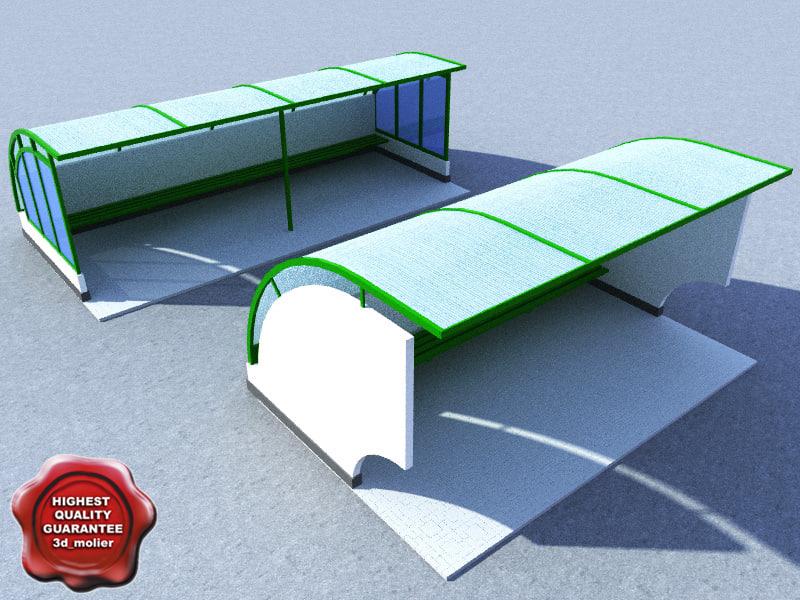 3d bus stop v1 model