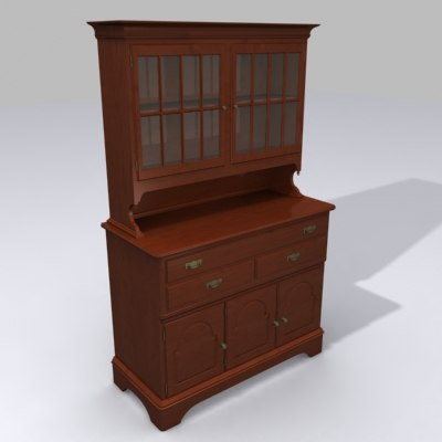 cabinet china dining 3d model
