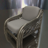 3d ma rattan chair