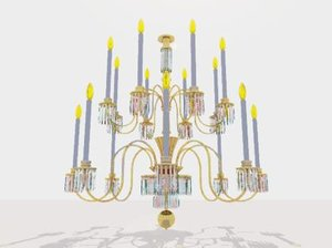 3ds max light chandelier