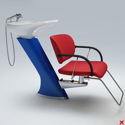 3ds max barber chair