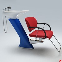 Chair barber001.ZIP