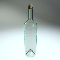 clear glass bottle c4d