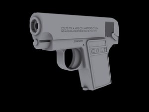 3dsmax colt 25 handgun