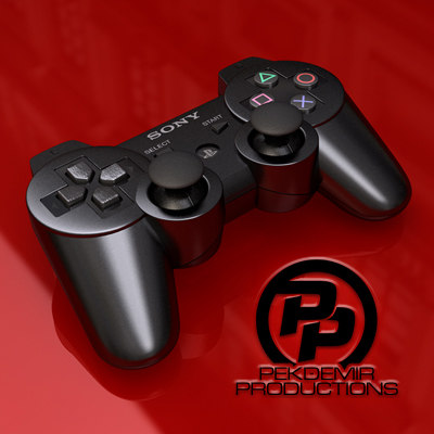 3d model playstation 3 controller