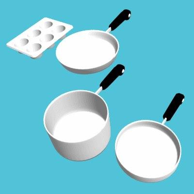 cookware 3d 3ds