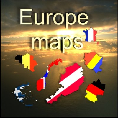 3d model of countries europe