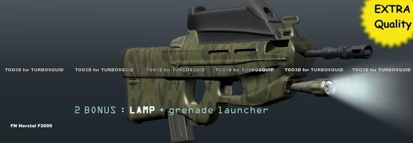 3d model fn f2000 2 bonus