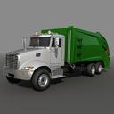 Garbage truck rear loader